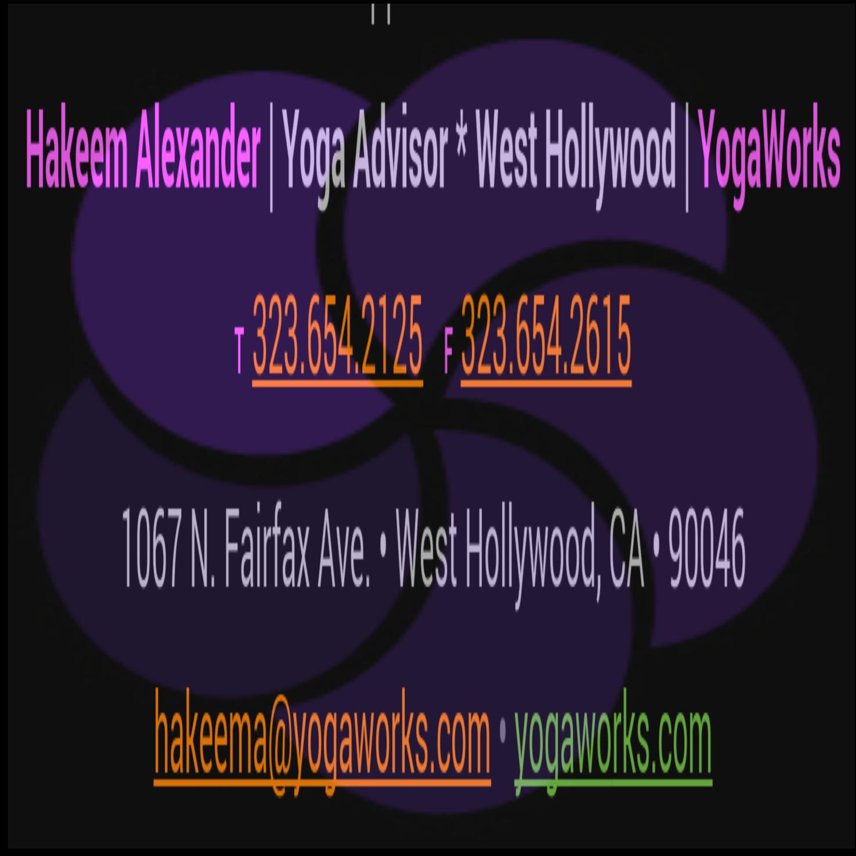 Hakeem Alexander | Yoga Advisor – West Hollywood | YogaWorks